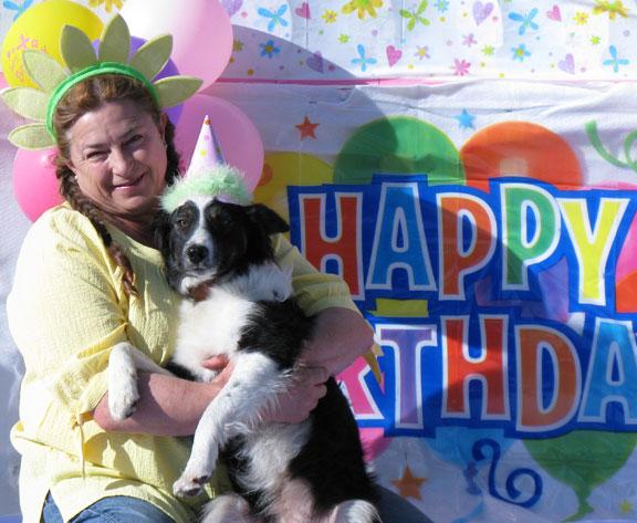 Rhonda celebrates Holly's Birthday